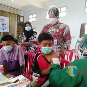 85 Anak Binaan LPKA Blitar Ikuti Vaksinasi Covid -19