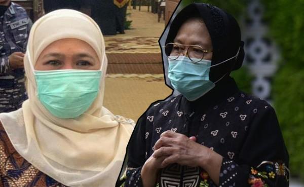 Gubernur Jatim Khofifah Indar Parawansa dan Mensos Tri Rismaharini (Foto: IST)