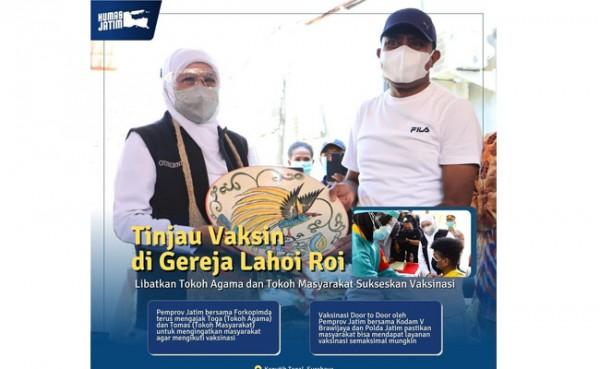 Vaksinasi door to door di Surabaya (Foto: Instagram @humasprovjatim)