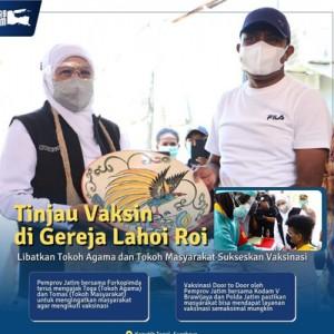 Pemprov Jatim Gelar Vaksinasi Covid-19 Door to Door ke Komunitas Warga Papua di Surabaya