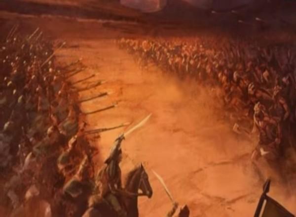 Ilustrasi perang Uhud (Ist)
