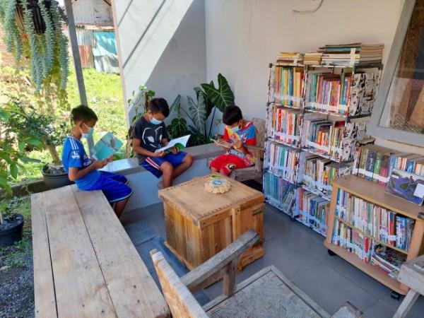 Taman Baca Lentera Ilmu, gagasan Kepala Desa Sengguruh, Kecamatan Kepanjen Jambury yang menginspirasi (Foto: Istimewa).