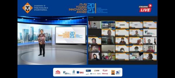 Menteri Koordinator Bidang Perekonomian Airlangga Hartarto memberikan keynote speech pada talkshow ITI-PII Young Innovation Award secara virtual, Kamis (15/7/2021) (Ist)