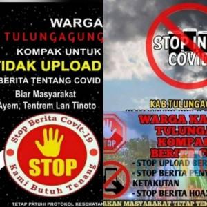 Penyebaran Poster Hoax Stop Berita Covid-19 di Medsos, Polres Tulungagung Lakukan Penyelidikan