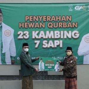 Semarakkan Idul Adha dan Harlah PKB, Gus Ali Salurkan Puluhan Hewan Kurban di Malang Raya