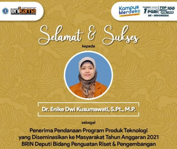 Dekan Fakultas Peternakan Universitas PGRI Kanjuruhan Malang (Unikama) Dr Enike Dwi Kusumawati S PT MP (Ist)