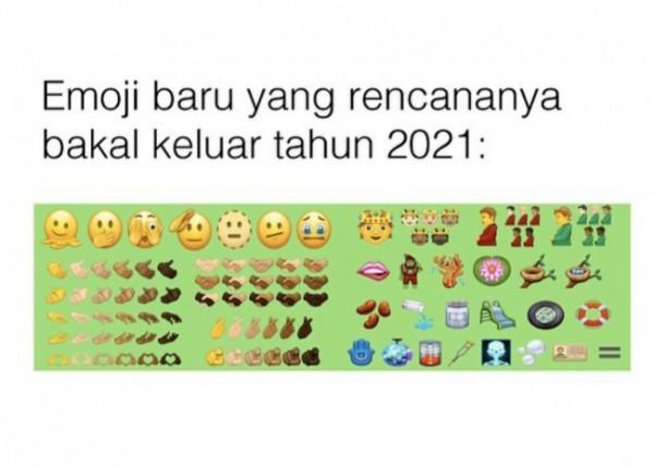 Deretan emoji baru yang siap dirilis tahun 2021 ini. (Foto: Instagram @folkative).