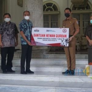 SIG Pabrik Tuban Salurkan 38 Hewan Kurban Lewat Pemkab Tuban
