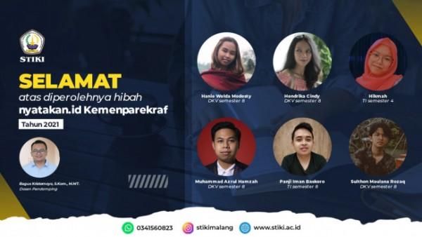 Enam mahasiswa STIKI Malang yang berhasil membawa Aplikasi Tandur me-nasional (foto: STIKI Malang)