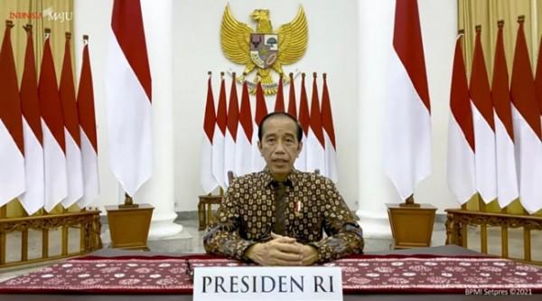 Presiden  Joko Widodo saat menyampaikan perpanjangan PPKM Darurat. (foto: screenshot YouTube Sekretariat Presiden)
