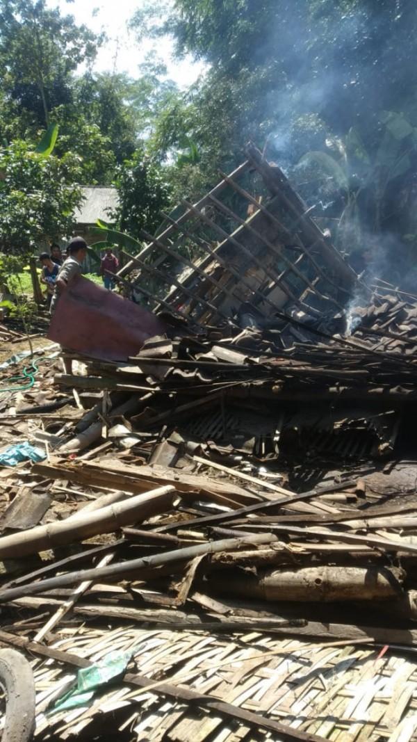 Salah satu lokasi kejadian kebakaran di Kabuapaten Malang, Selasa (20/7/2021).
