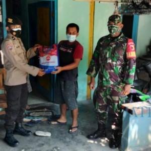 Warga Desa Ngawi Dapat Beras dan Sosialisasi PPKM dari Polsek