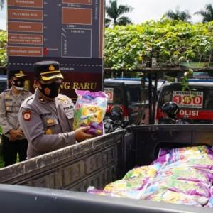 52 Ton Beras dari Luhut Binsar Pandjaitan Disalurkan Polres Malang