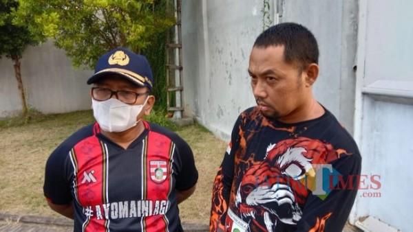 Zamroni Ketua Majelis Pimpinan Cabang (MPC) Pemuda Pancasila Banyuwangi bersama Wabup H Sugirah Nurhadi Banyuwangi Jatim TIMES