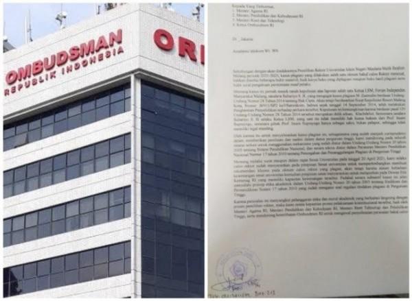 Ombudsman RI dan Surat Terbuka Prof Suhartono (Ist)