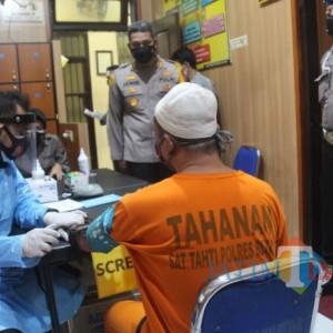 Cegah Penularan Covid-19, Polres Blitar Vaksinasi 84 Tahanan