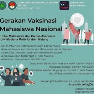 Dorong Pendidikan Segera Bangkit, DEMA PTKIN se-Indonesia Inisiasi Gerakan Vaksinasi Mahasiswa Nasional