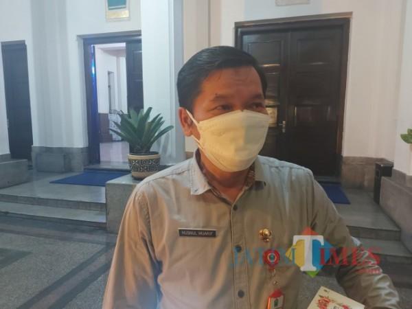 Kepala Dinas Kesehatan Kota Malang dr Husnul Muarif saat ditemui MalangTIMES.com di Balai Kota Malang, Jumat (23/7/2021). (Foto: Tubagus Achmad/MalangTIMES)