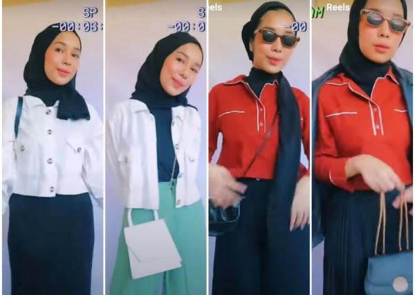 Inspirasi outfit hitam putih untuk tampilan lebih berwarna. (Foto: Instagram @salsabillapm)