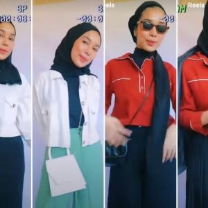 Inspirasi Outfit Hitam Putih agar Tampak Lebih Berwarna ala Hijabers, Boleh Ditiru Nih