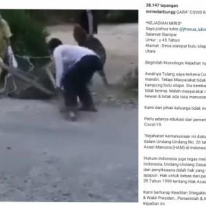 Lari dari Isoman, Pria Positif Covid-19 Diikat hingga Diamankan Warga Pakai Kayu, Videonya Viral