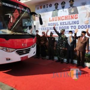 Vaksinasi Door to Door Via Bus Sekolah Diluncurkan Pemkot Blitar