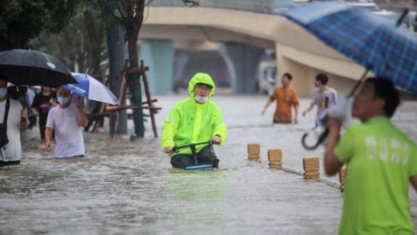 China dilanda banjir (Foto: Ouest-France)