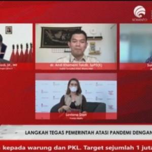 Dialog Produktif Rabu Utama, Satgas Beber Persentase Kepatuhan 3M