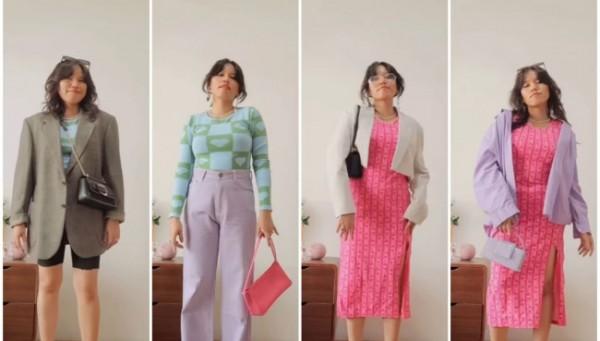 Inspirasi patterned outfit untuk aktivitas harian. (Foto: Instagram @steffisanta).