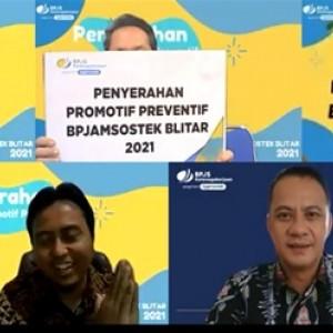 Bantu Lawan Pandemi Covid-19, BPJAMSOSTEK Blitar Lakukan Kegiatan Promotif Preventif
