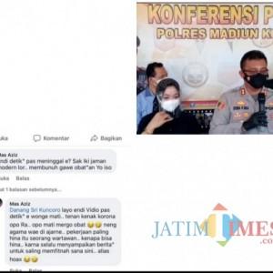 Hina Wartawan, Pria Magetan Merengek Minta Maaf Saat Diciduk Satreskrim Polres Madiun Kota