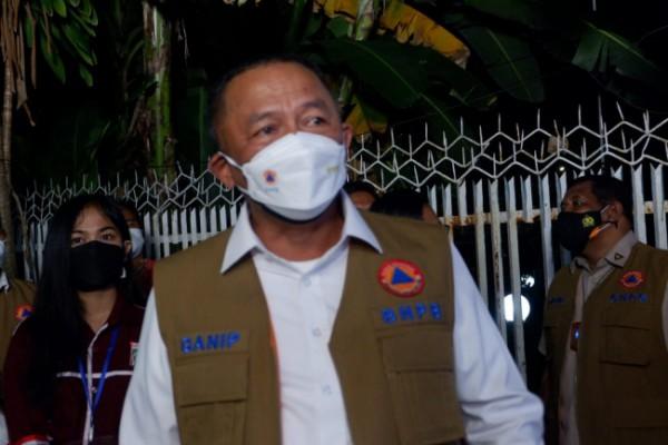 Kepala BNPB Letjen TNI Ganip Warsito usai meninjau persiapan aplikasi Inarisk dan Si Lacak di wilayah Malang Raya, Sabtu (31/7/2021) malam. (Foto: Istimewa)