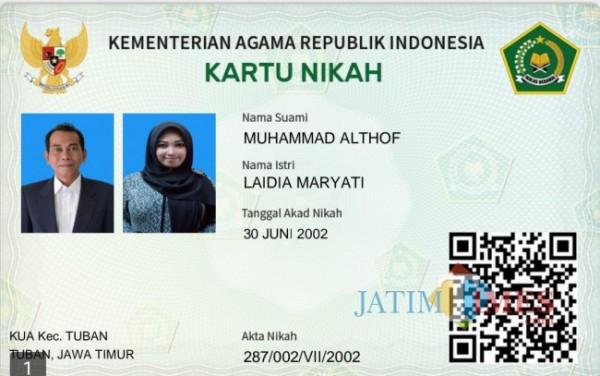Kemenag Tuban saat launching kartu digital nikah di Kecamatan Kota Kabupaten Tuban (02/08/2021) (Foto: Ahmad Istihar/ JatimTIMES)