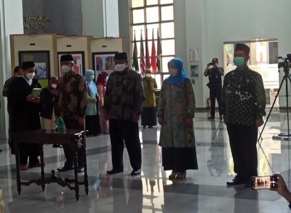 Empat wakil rektor yang dilantik oleh Rektor UIN Maliki Malang Prof Zainuddin. (Ist)