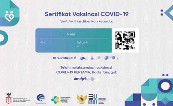 Sertifikat Vaksin (Foto: Bisnis.com)