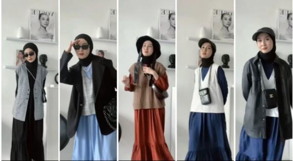 Inspirasi padu padan basic dress untuk tampil lebih stylish. (Foto: Instagram @inasrana).