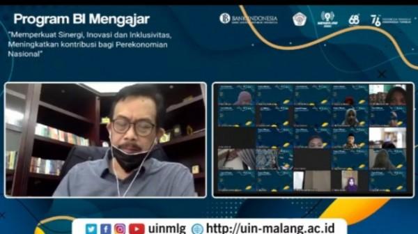 Rektor UIN Maliki Malang Prof Dr Zainudin MA saat memberikan sambutan dalam BI Mengajar (Ist)