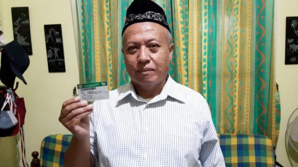 Salah satu peserta JKN-KIS, yakni Agus Purbianto (59), usai melakukan operasi batu ginjal beberapa waktu lalu. (Foto: BPJS Kesehatan)