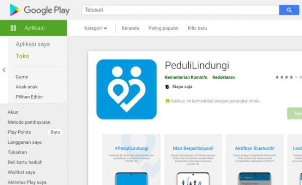 PeduliLindungi (Foto: Play Store)