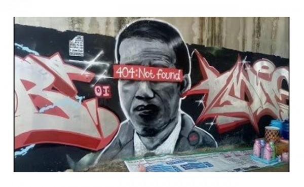 "Trending Twitter, Pembuat Mural ""Jokowi 404:Not Found:Presiden Lambang Negara"" Diburu Polisi"