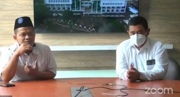 Kabag Akademik Imam Ahmad (kiri) dan WR 1 UIN Maliki Malang Dr Agus Maimun (Ist)