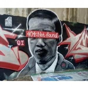 """Arti """"404: Not Found"""", Tulisan di Mural Wajah Jokowi yang Viral"""