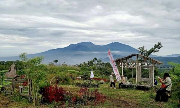 Pemandangan gunung Arjuno nampak saat berada di camping ground Glahah Wangi. (Foto: istimewa)
