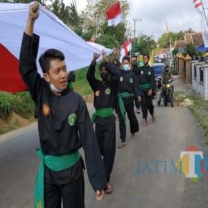 Kirab Merah Putih di Tulungagung, TNI dan Elemen Masyarakat Jalan Puluhan Kilometer