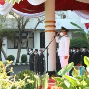 Upacara HUT Kemerdekaan RI Ke-76 di Kabupaten Lumajang Berlangsung Khidmat