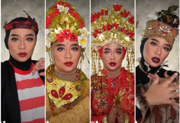 Potret karnaval online beauty vlogger Ini Vindy. (Foto: Instagram @inivindy)