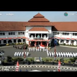 Terbatas dan Digelar Virtual, Suasana Upacara Peringatan HUT Ke-76 RI di Kota Malang