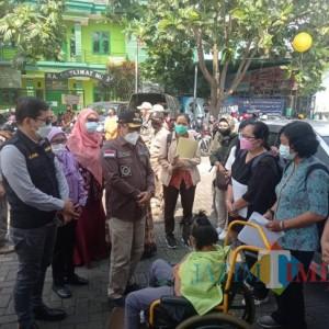 Ribuan Penyandang Disabilitas Jalani Vaksinasi di Kantor Dinsos Kota Malang
