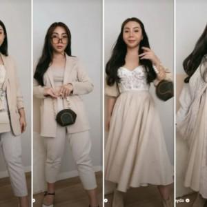 Inspirasi Tampil Glamour dengan Outfit Warna Netral, Intip Padu Padan Berikut yuk