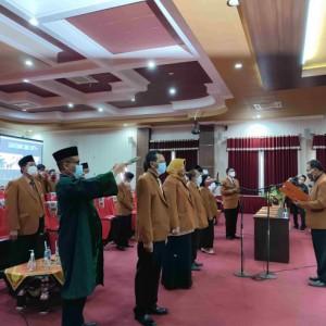 Rektor Unikama Lantik 90 Pejabat Struktural Masa Bakti 2021-2025